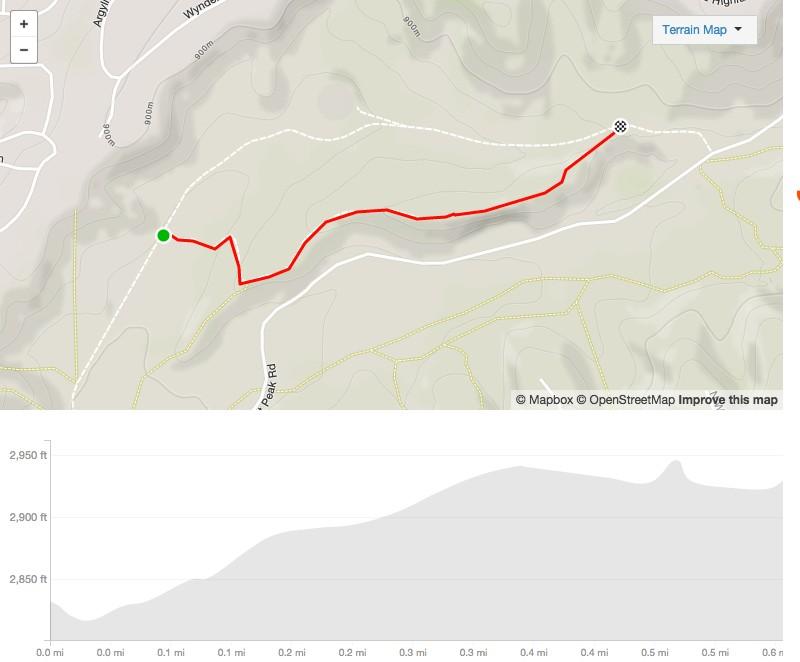 Chickadee Ridge from Red Fox map lower